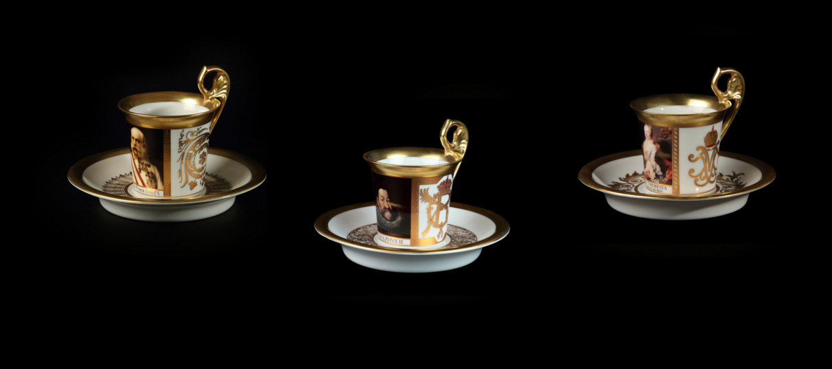 Viennese cups and saucer